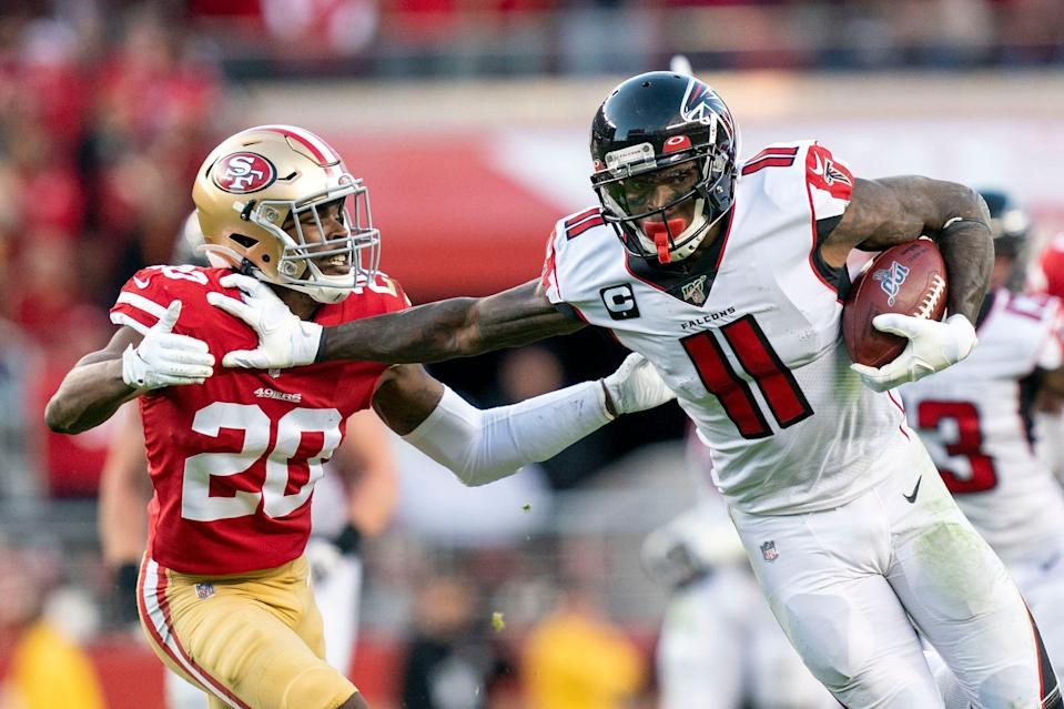One of Falcons WR Julio Jones' most memorable performances occurred in 2019 on the road against the eventual NFC champion 49ers.