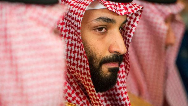 PHOTO: Saudi Crown Prince Mohammed bin Salman, center, meets with Defense Secretary Jim Mattis, not pictured, at the Pentagon in Washington, March 22, 2018. (Cliff Owen/AP, FILE)