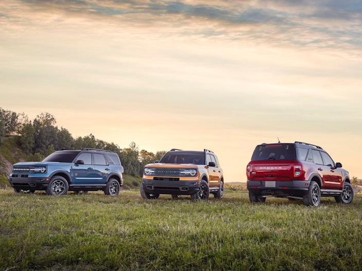 The new Bronco family of vehicles.