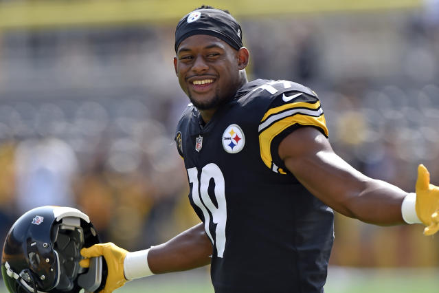 Steelers rookie JuJu Smith-Schuster rides his bike everywhere, but it was stolen on Tuesday. (AP)