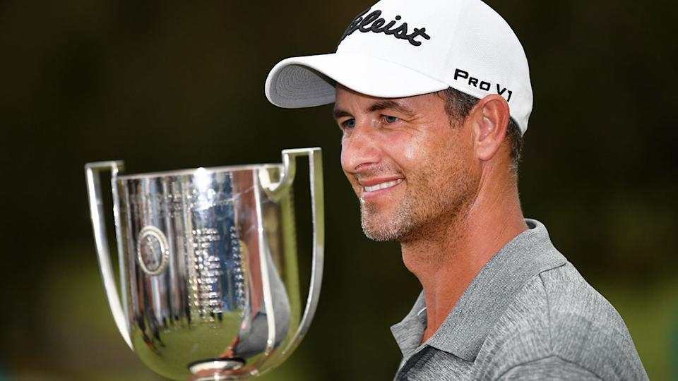Pictured here, Adam Scott with the trophy after winning the 2019 Australian PGA Championship.