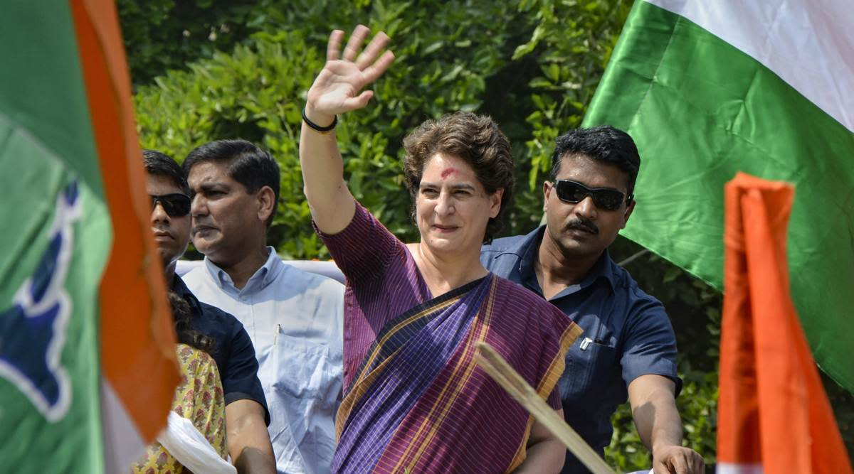 <p>A closer look shows that Priyanka's style during campaigning is all about handwoven cotton or jute silk saris with borders, and cotton suits once in a while. The saris are mostly in monotones– brown, green, yellow, deep maroon and blue-and sometimes in checks. </p>