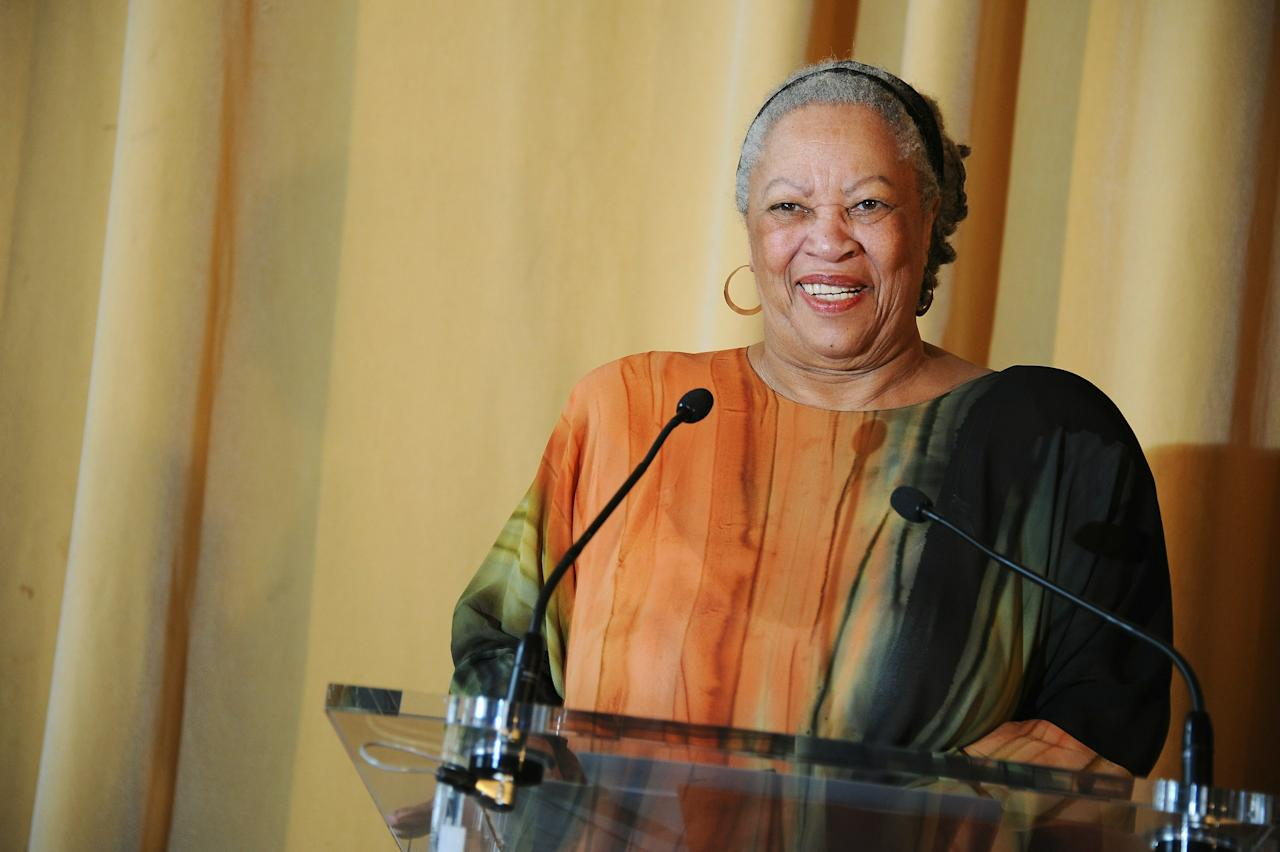 PARIS - NOVEMBER 04:  US Author and Nobel Prize in literature winner Toni Morrison receives the Honor Medal of The City of Paris (Grand Vermeil) at Mairie de Paris on November 4, 2010 in Paris, France.  (Photo by Francois Durand/Getty Images)
