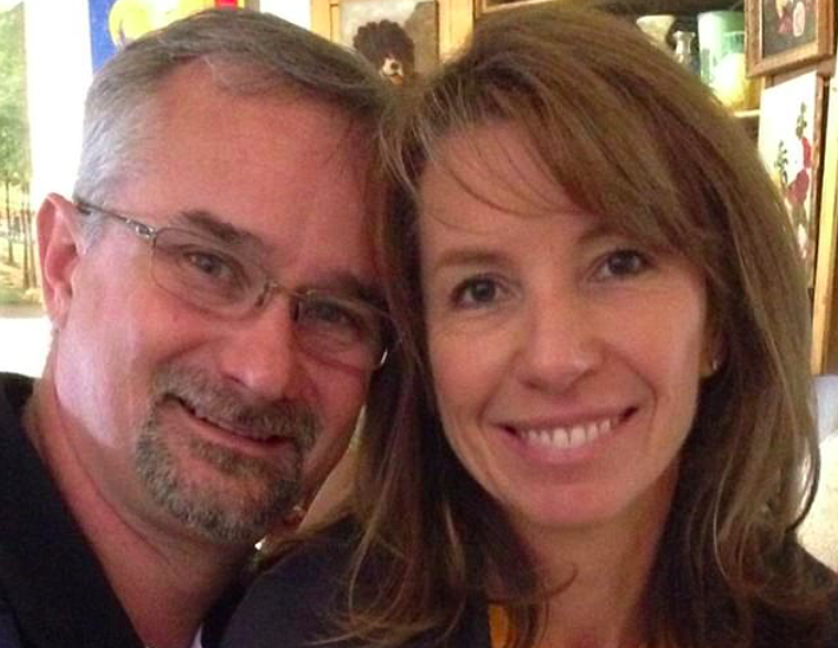 <em>David Fravor (pictured with his wife) said he was 'weirded out' by the experience (Facebook)</em>