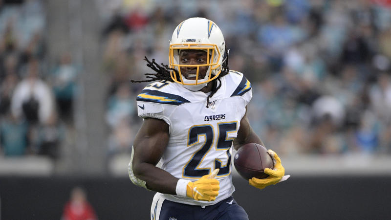 Melvin Gordon is joining the Broncos. (AP Photo/Phelan M. Ebenhack)