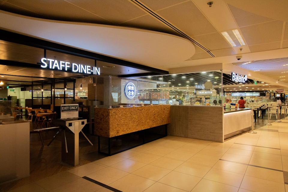 Dedicated rest and dining for airport staff at Changi Airport T3. (PHOTO: Changi Airport Group)