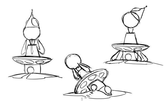 Mateo's sketches of characters and the planet as he struggles to overcome grief - Credit: Courtesy of Apple