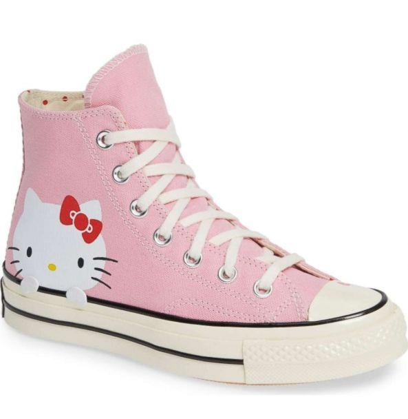 PHOTO: These Converse Chuck 70 pink high-tops feature a classic Hello Kitty design. (Nordstrom)