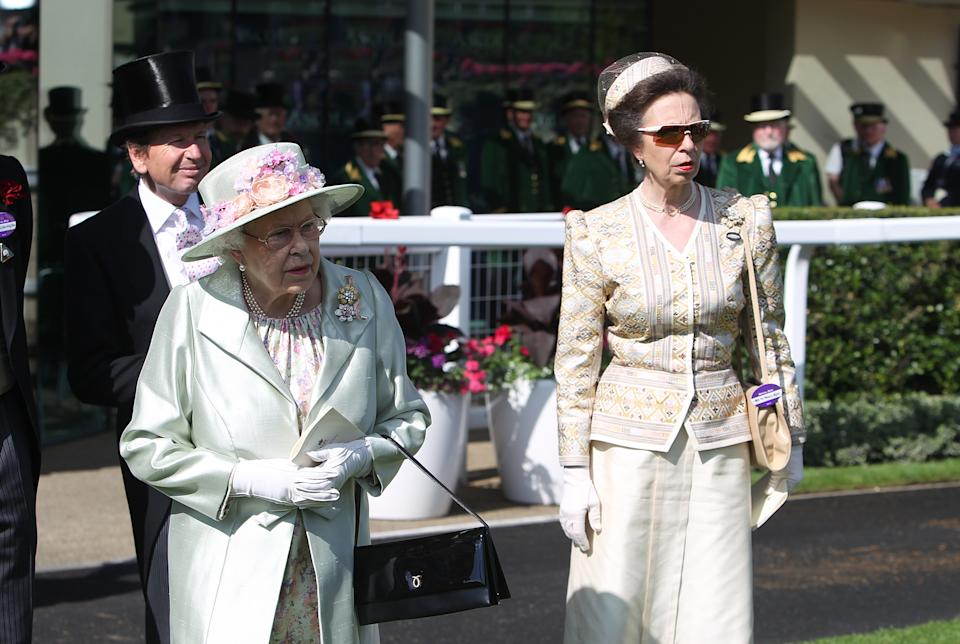 <p>When Princess Anne wore this jacket and skirt to Royal Ascot in 2014, it had already been worn several times over the years by the royal, – so perhaps it could be dusted off once again. (PA Images)</p>