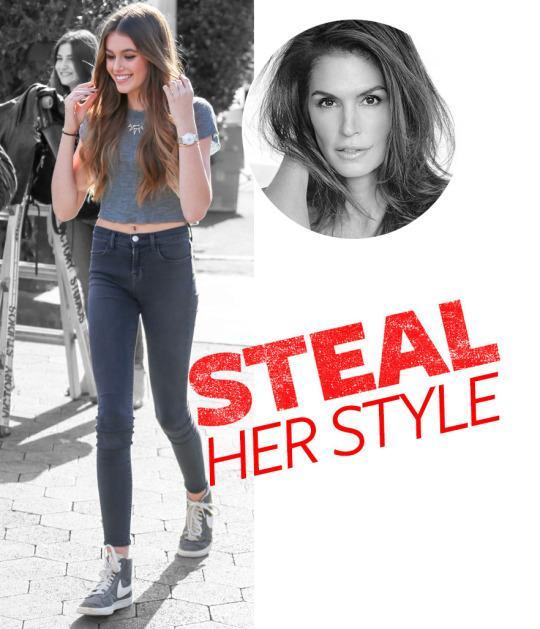 <p>Kaia Gerber (AKA mini Cindy Crawford) may only be 14 years old, but she's already making moves in the modeling world—landing editorials in <i>Teen Vogue</i>, <i>Vogue Italia</i>, and <i>CR Fashion Book</i>. Another thing she's honed over her short career? The ultimate model-off-duty wardrobe. It seems that perfect jeans my truly be in this teen's genes. </p>