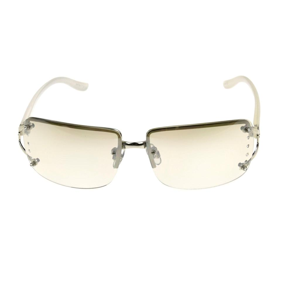 <p>Like these <span>Foster Grant Women's Silver Shield Sunglasses</span> ($9).</p>