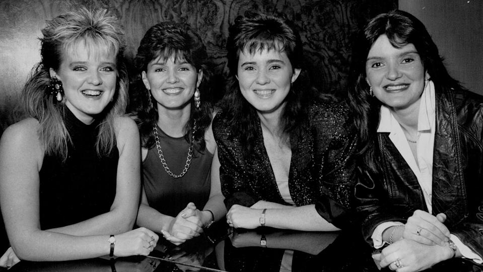 The Nolans, photographed here in 1986, sold over 30 million records worldwide (Getty)