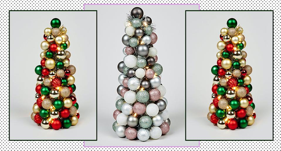 Matalan has launched two Christmas Bauble Trees and matching wreaths ahead of December 25. (Getty Images)