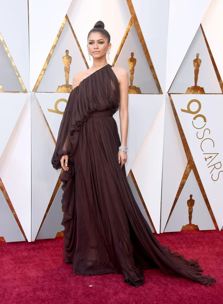 <p>Zendaya attends the 90th Academy Awards in Hollywood, Calif., March 4, 2018. (Photo: Getty Images) </p>