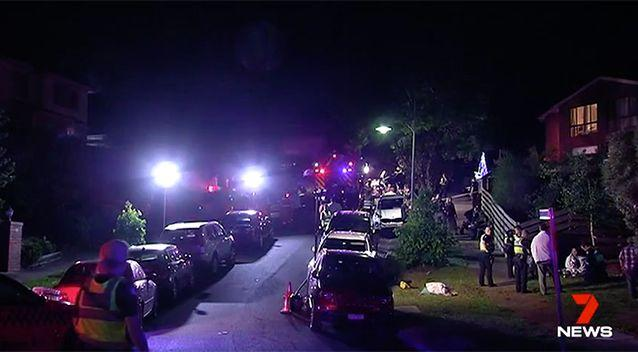 The street became a trauma centre for the party guests. Source: 7 News