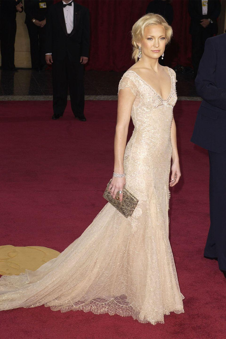 <p>Kate Hudson is Hollywood royalty. She was tapped as a presenter in 2003, but looked ready to take home the gold in this champagne Atelier Versace gown. </p>
