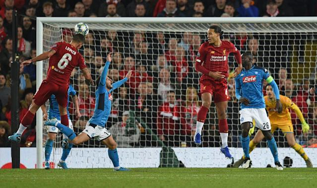 Lovren was Liverpool's unlikely saviour. (Photo by Oli SCARFF / AFP) (Photo by OLI SCARFF/AFP via Getty Images)