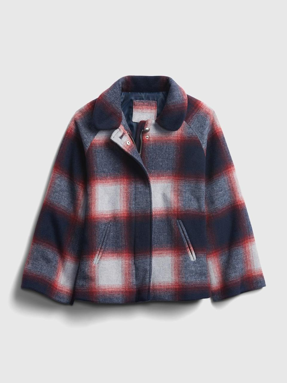 <p>This <span>Gap Kids Plaid Wool Jacket</span> ($54, originally $108) is perfect for weekend adventures! Durable and stylish!</p>