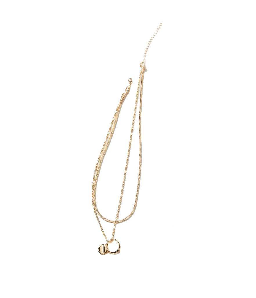 "<p>Layered Ring Charm Necklace, $22, <a href=""https://fave.co/2NCbQNI"" rel=""nofollow noopener"" target=""_blank"" data-ylk=""slk:urbanoutfitters.com"" class=""link rapid-noclick-resp"">urbanoutfitters.com</a> </p>"