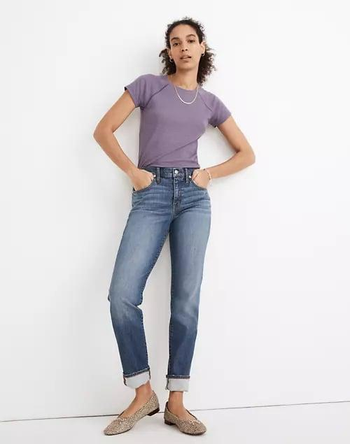 <p>Pair these <span>Madewell The Slim Boyjeans</span> ($128) with your favorite t-shirt or a cute cardigan.</p>