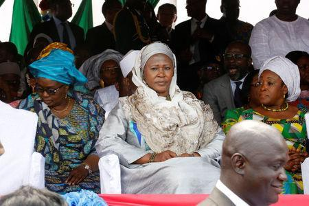 Gambia new Vice President Ms. Fatoumata Jallow Tambajang (C), is seen during President Adama Barrow's swearing-in ceremony and the Gambia's Independence day ceremony at Independence Stadium, in Bakau, Gambia February 18, 2017. REUTERS/Thierry Gouegnon