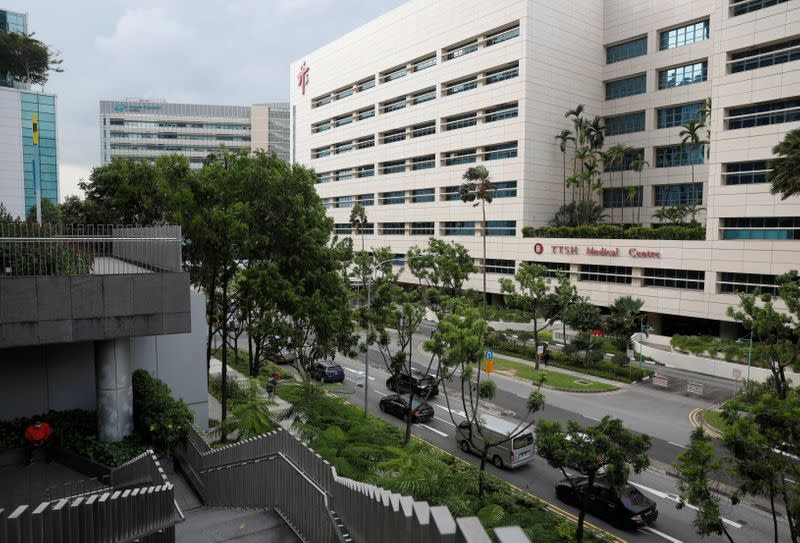 A view of Tan Tock Seng Hospital, which became a coronavirus disease (COVID-19) cluster, in Singapore