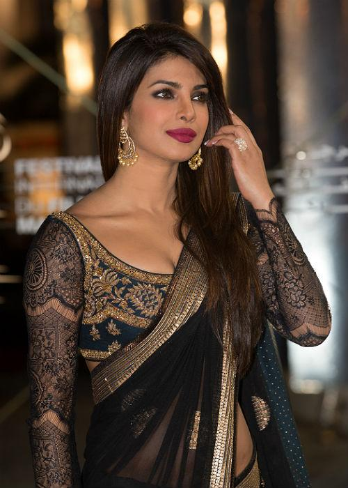 <b>7.Priyanka Chopra:</b> Piggy Chops might not have sported the ethnic look too often, but when she does, she does it with style! Here's proof!