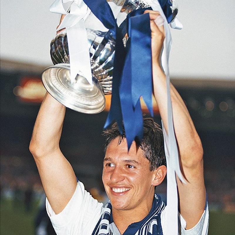 Winning the FA Cup with Tottenham in 1991 - Getty