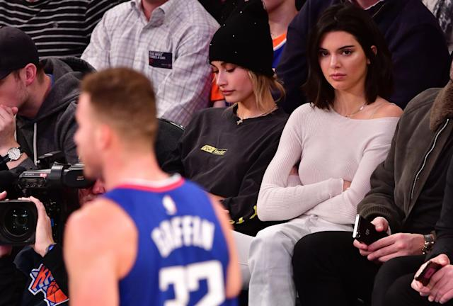 Kendall Jenner attended a number of Blake Griffin's Los Angeles Clippers game this season. (Getty Images)
