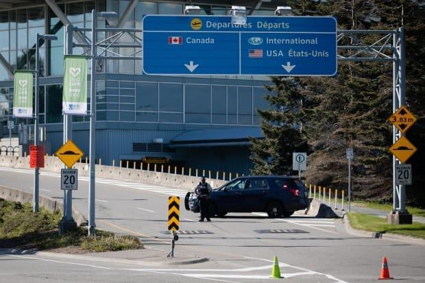 Vancouver International Airport in Richmond, B.C., remained open after a man was shot and killed Sunday afternoon.  (Maggie MacPherson/CBC - image credit)