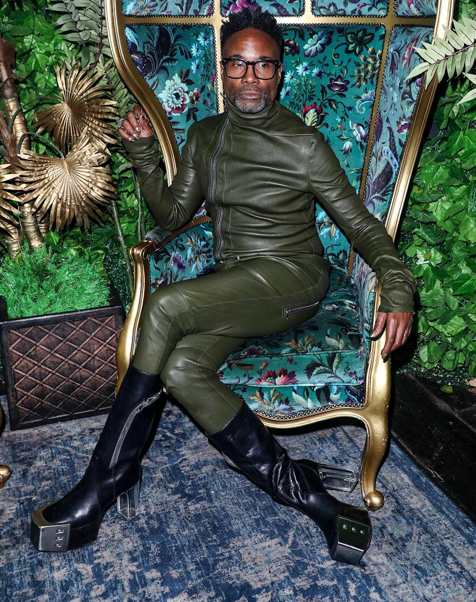 <p>Billy Porter goes all out on Oct. 8 at Proud Embankment in London.</p>