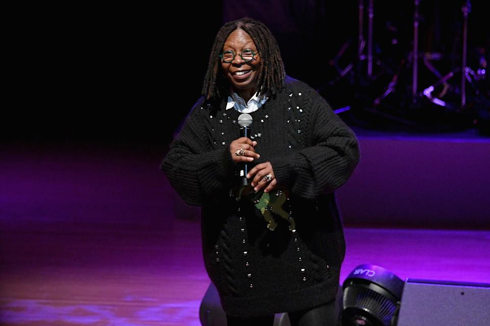 NEW YORK, NY – NOVEMBER 29: Whoopi Goldberg speaks onstage at the Lincoln Center Fashion Gala – An Evening Honoring Coach at Lincoln Center Theater on November 29, 2018 in New York City. (Photo by Dia Dipasupil/Getty Images for Lincoln Center)
