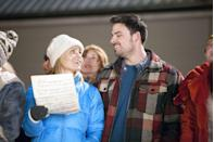 <p>Executive Stephanie (Candace Cameron Bure)is anti-Christmas and has never even seen snow in person. So, she has no qualms about shutting down the Snow Valley Lodge to impress her dad (Alan Thicke). That is, until she meets Brady (Jesse Hutch), who opens her up to winter fun, like the magic of a good Christmas tree lighting, skiing, and tobogganing. </p>