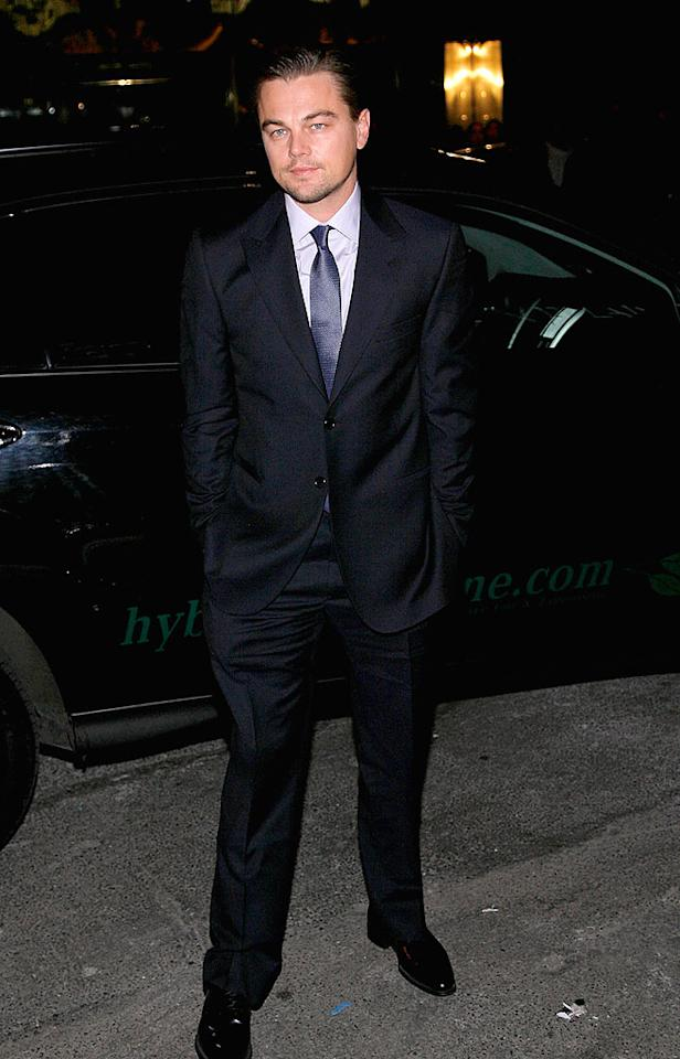 "Leonardo DiCaprio kept it simple yet sexy in a dark suit and his trademark scruff. Jemal Countess/<a href=""http://www.wireimage.com"" target=""new"">WireImage.com</a> - February 17, 2009"