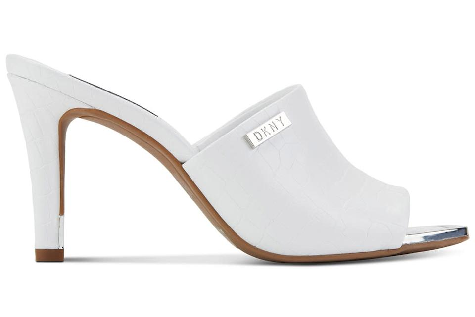 DKNY, square-toe sandals