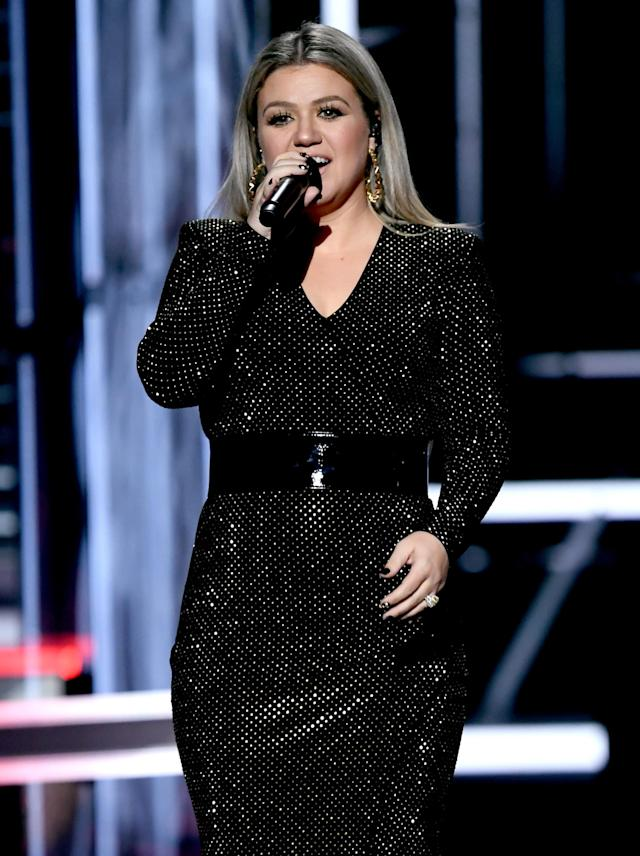 Kelly Clarkson at the 2018 Billboard Music Awards. (Photo: Kevin Winter/Getty Images)