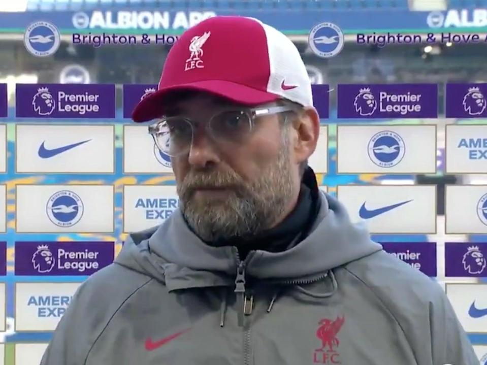 Klopp is unhappy with the scheduling  (BT Sport)