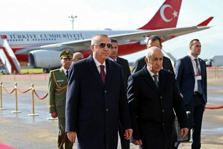 Turkish President Recep Tayyip Erdogan backs Libya's UN-recognised government against strongman Khalifa Haftar who is supported by Egypt, Russia and the United Arab Emirates (AFP Photo/Murat KULA)