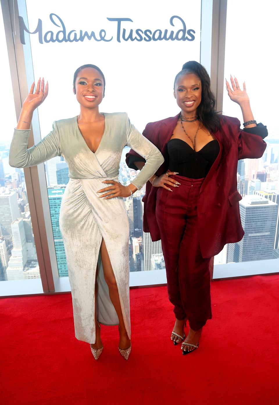 Jennifer Hudson celebrates the reveal of her wax figure, which is now featured at Madame Tussauds New York. - Credit: Madame Tussauds/ MEGA