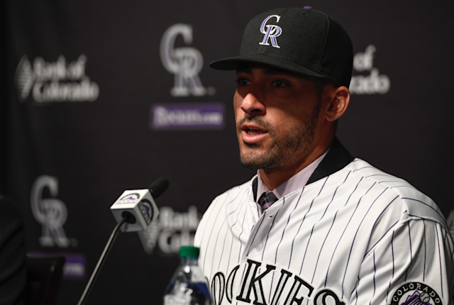 Ian Desmond gives the Rockies one too many outfielders. (Getty Images/John Leyba)