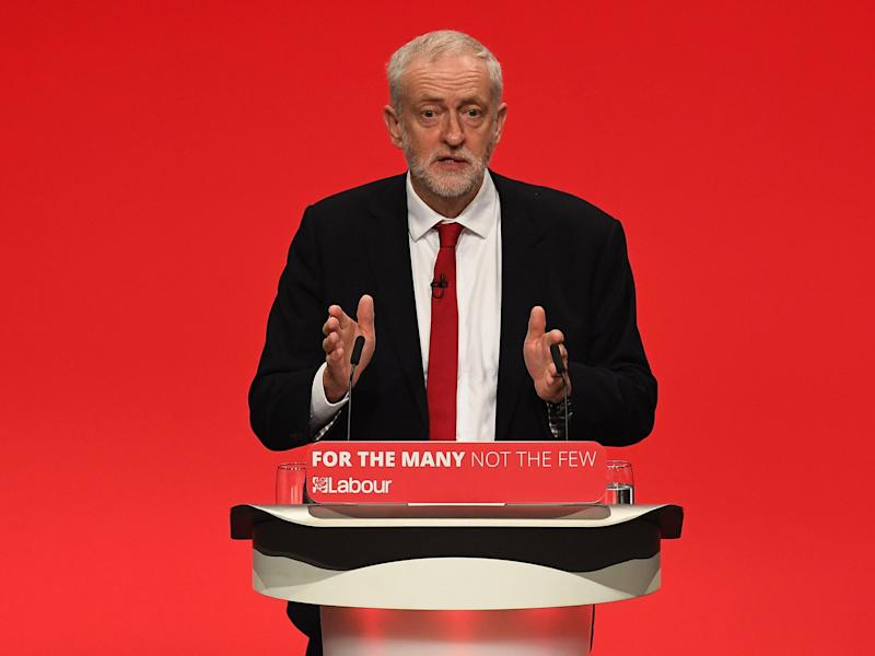 Stand-up guy: Jeremy Corbyn is now considered more Prime Ministerial than Theresa May: Getty