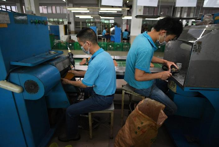 Donald Trump has frequently accused China of stealing US jobs through unfair trade practices and currency manipulation, while simultaneously relying on the country to make Trump-branded goods (AFP Photo/Greg Baker)