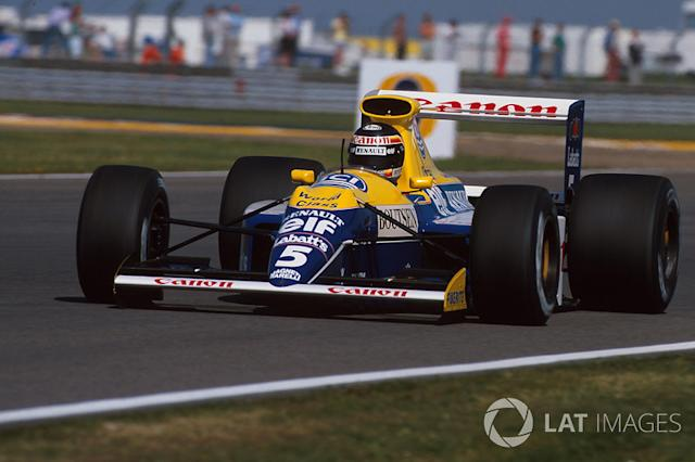 """Thierry Boutsen, Williams-Renault FW13B, 1990 <span class=""""copyright"""">Sutton Motorsport Images</span>"""