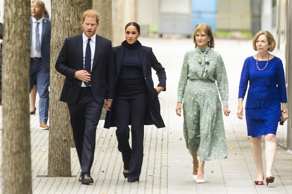 <p>Meghan and Harry walked the grounds of the memorial. </p>