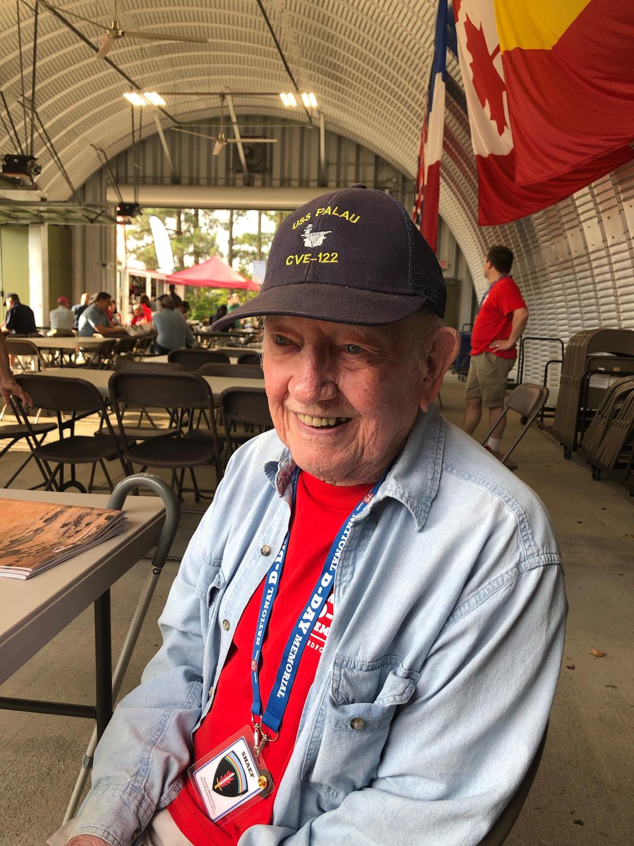 """Paul Coleman, a Korean War veteran who served in the Navy, was in Bedford, Va., for the 75th anniversary of D-Day. """"There's not that many (D-Day veterans) left,"""" Coleman said. """"This will be the last one."""""""