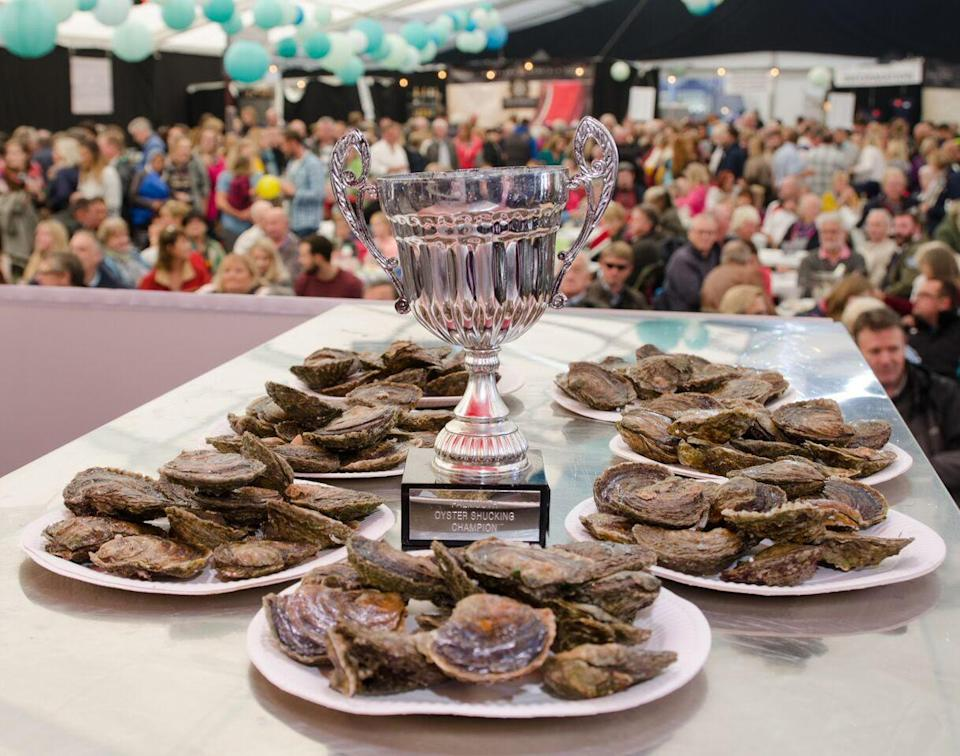 A very good excuse to visit the coast too [Photo: Falmouth Oyster Festival]
