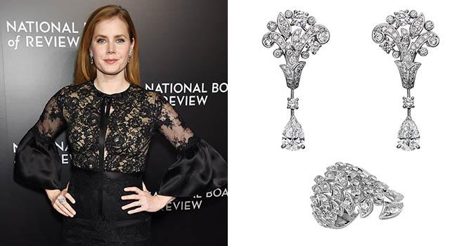 Amy Adams at the National Board of Review Gala in Cartier diamond and platinum jewelsPhoto by Dimitrios Kambouris/WireImage and jewels courtesy