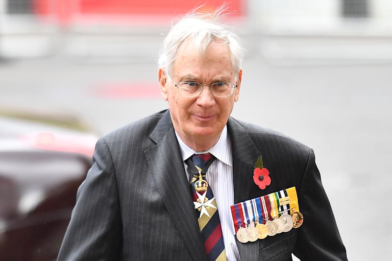 Britain's Prince Richard, Duke of Gloucester, arrives to attend a service of commemoration and thanksgiving to mark Anzac Day in Westminster Abbey in London on April 25, 2019. - Anzac Day marks the anniversary of the first major military action fought by Australian and New Zealand forces during the First World War. The Australian and New Zealand Army Corps (ANZAC) landed at Gallipoli in Turkey during World War I. (Photo by Daniel LEAL-OLIVAS / AFP) (Photo credit should read DANIEL LEAL-OLIVAS/AFP via Getty Images)