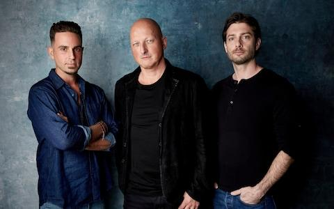(L-R): Wade Robson, Leaving Neverland director Dan Reed and James Safechuck - Credit: Taylor Jewell
