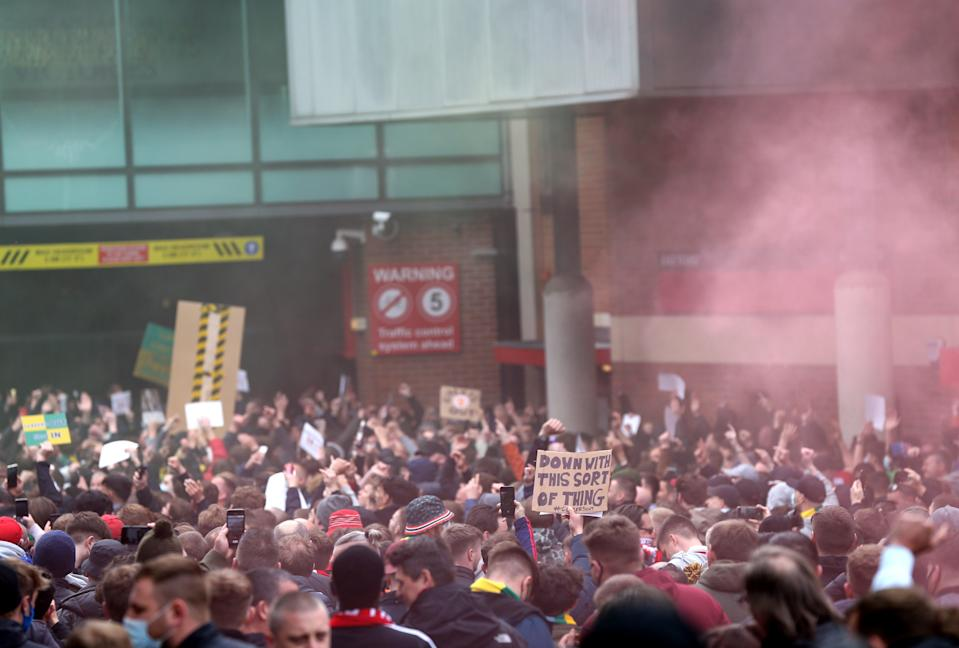 Manchester United fan protest – Old Trafford (PA Wire)